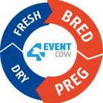 Alta 4-EVENT COW logo featuring the events Bred and Preg